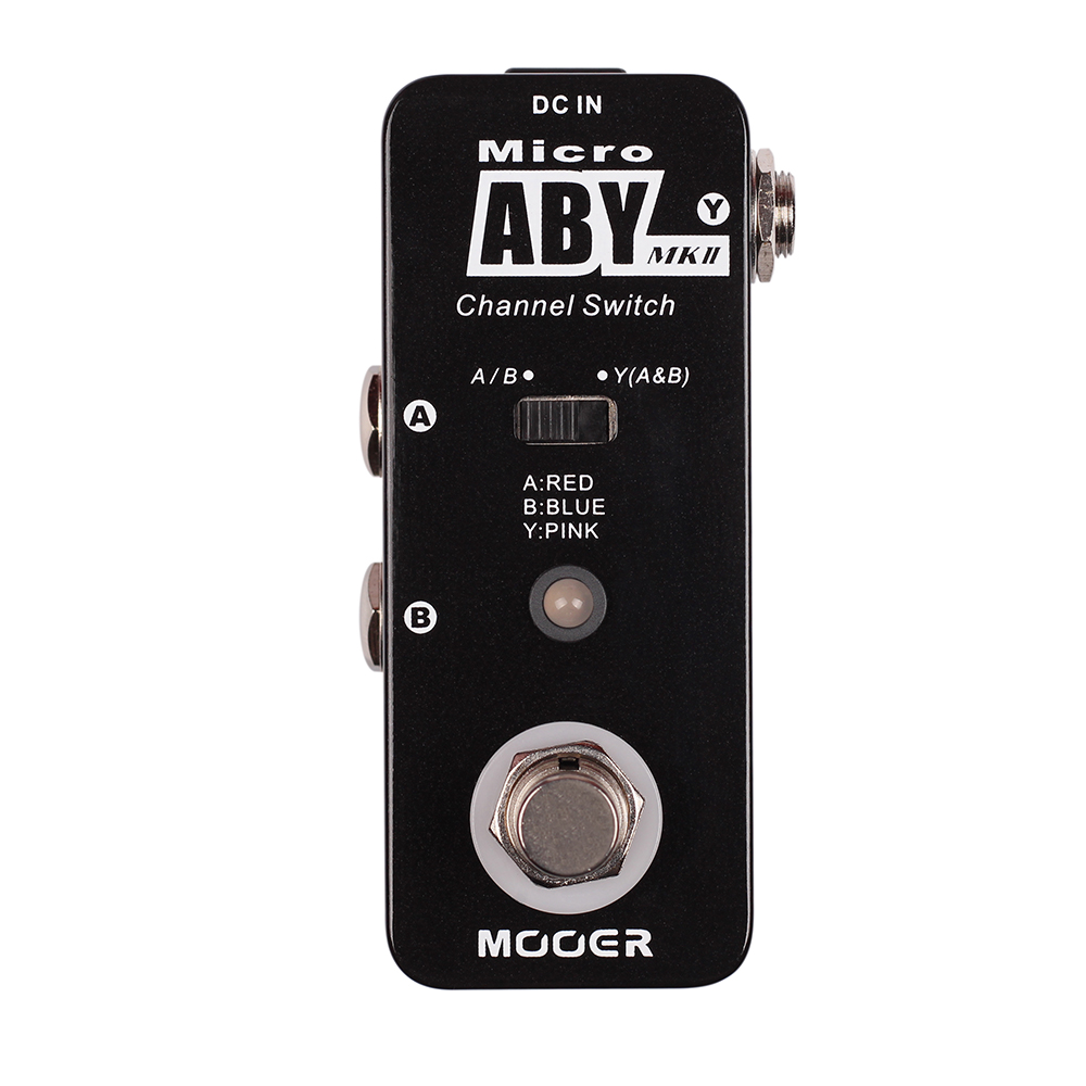 Mooer ABY MKII Channel Switch Electric Bass Guitar Effects Pedal True Bypass Micro Series стоимость