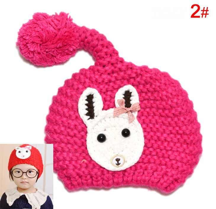 กระต่ายขนสัตว์ Beret หมวกสำหรับเด็ก, เด็กทารกหมวก Beanies, หมวกเด็กโครเชต์ Handmade ถ่ายภาพ Props, ทารกแรกเกิดฤดูหนาวหมวกเด็กหมวก