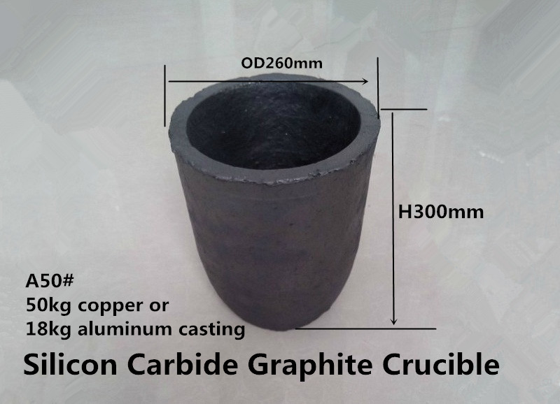Фотография A50# Silicon Carbide Graphite Crucible  for   50kg copper and 18kg aluminum    /Copper melting graphite crucibles