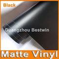 30cm x 152cm Matte Matt Black Vinyl Wrap Self Adhesive Air Release Bubble Free Car Styling Membrane Sticker Decal Film