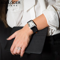 Swiss Luxury Brand Agelocer Watches Women Quartz Watch Female Clock Slim Roman Numerals Ladies Wristwatches With Gift Box