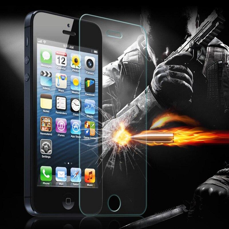 3 шт. 0.26 мм 2.5D закаленное Стекло для iPhone 6 6 S плюс 7 7 Plus 5 5S <font><b>5C</b></font> se 4 4S Плёнки Anti-Explosion противоударный Экран протектор