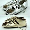 Девушки обувь 2015 новые летние девочки сандалии натуральная кожа Мокасины детская обувь Лодыжки Ремень Плоские сандалии для девочек