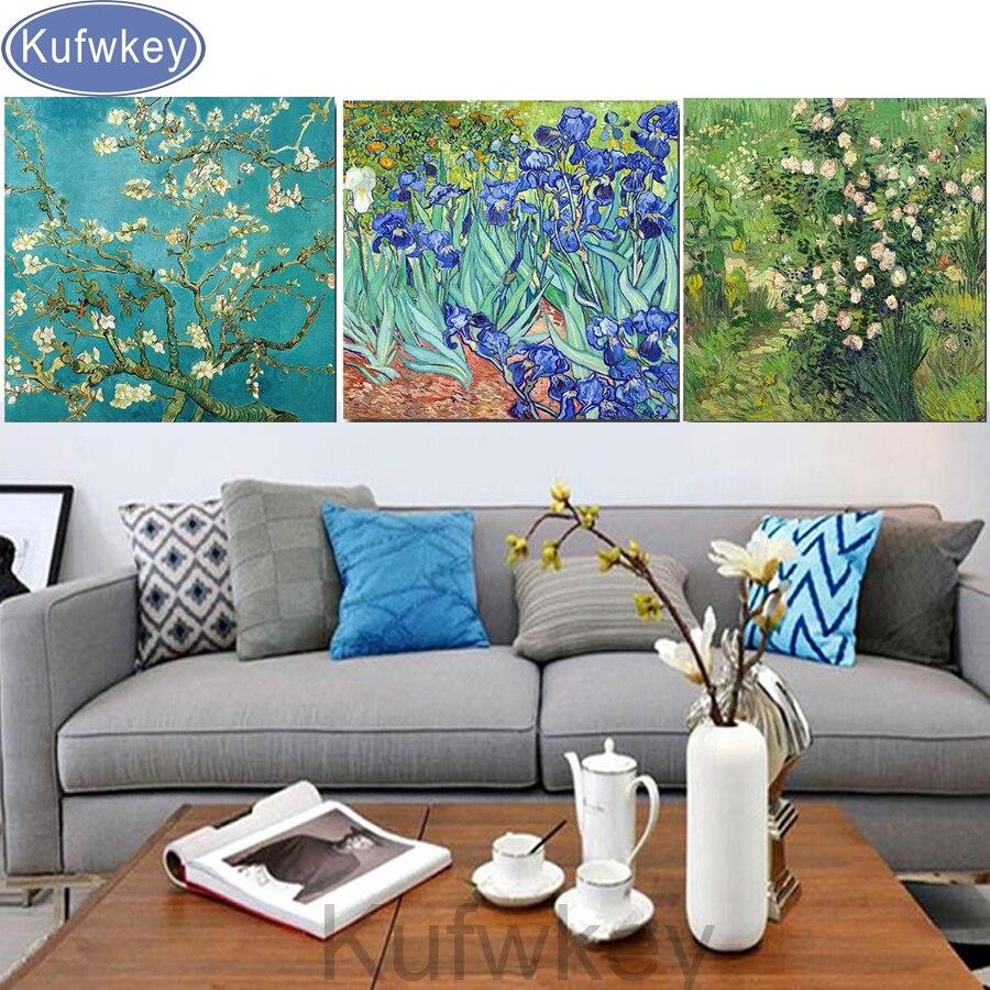 Gfones DIY Rhinestone Painting Cross Stitch Embroidery Home Living Room Decor Cross-Stitch
