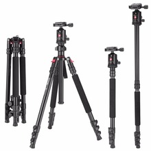 Zomei M7 Aluminum Professional Compact Camera Tripod Monopod With Ball Head For DSLR Camera / Portable Photography Tripod Stand zomei z688 professional photographic travel compact aluminum heavy stable tripod monopod ball head for digital dslr camera excl