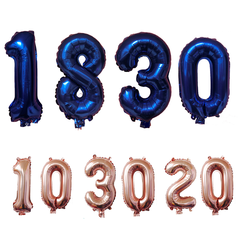 Champagne16th 18th <font><b>20th</b></font> 21st 10th 30th 40th 50th <font><b>Birthday</b></font> Balloon Gold Number Balloon Happy <font><b>Birthday</b></font> Party <font><b>Decorations</b></font> Adult image