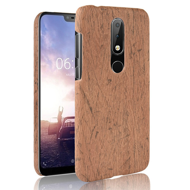 the latest dca9a a4771 US $2.67 11% OFF|Aliexpress.com : Buy For Nokia 6.1 Plus Phone Case Bumper  PC Plastic 2018 new PU Leather Cover For Nokia 6.1Plus Wood Cases from ...