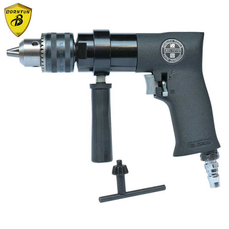 купить Borntun 1.5-13mm Low Speed Pneumatic Air Drill Bore with F-R Switch Pneumatic Drill Boring Drilling Tools for Woodwork Metalwork по цене 6663.76 рублей