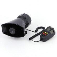 Hot Sale 12V 100W 110dB Tone Vehicle Car 7 Sound Loud Horn  Police Firemen Ambulance Warning Alarm Loudspeaker