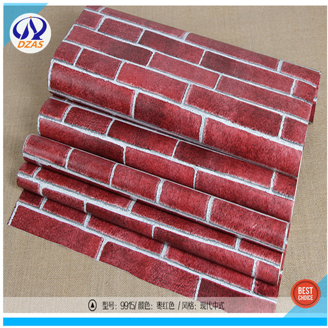 DZAS brand red bricks wallpaper wall wallpapers 5.3 square meter per roll paper Room Decor-in ...
