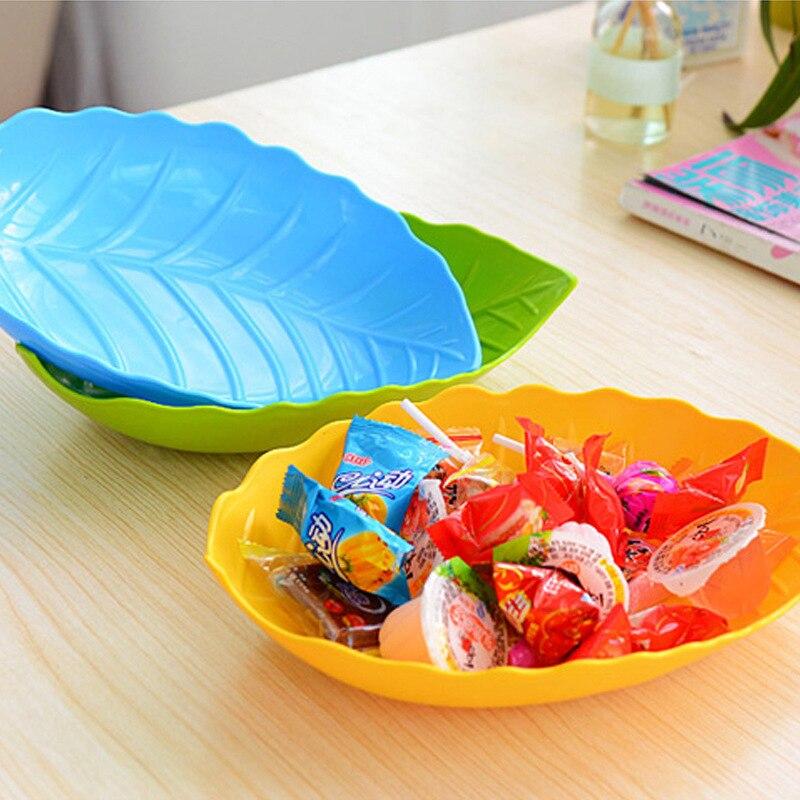 forma de la hoja de plstico platos platos de diseo creativo para merienda pastel de frutas