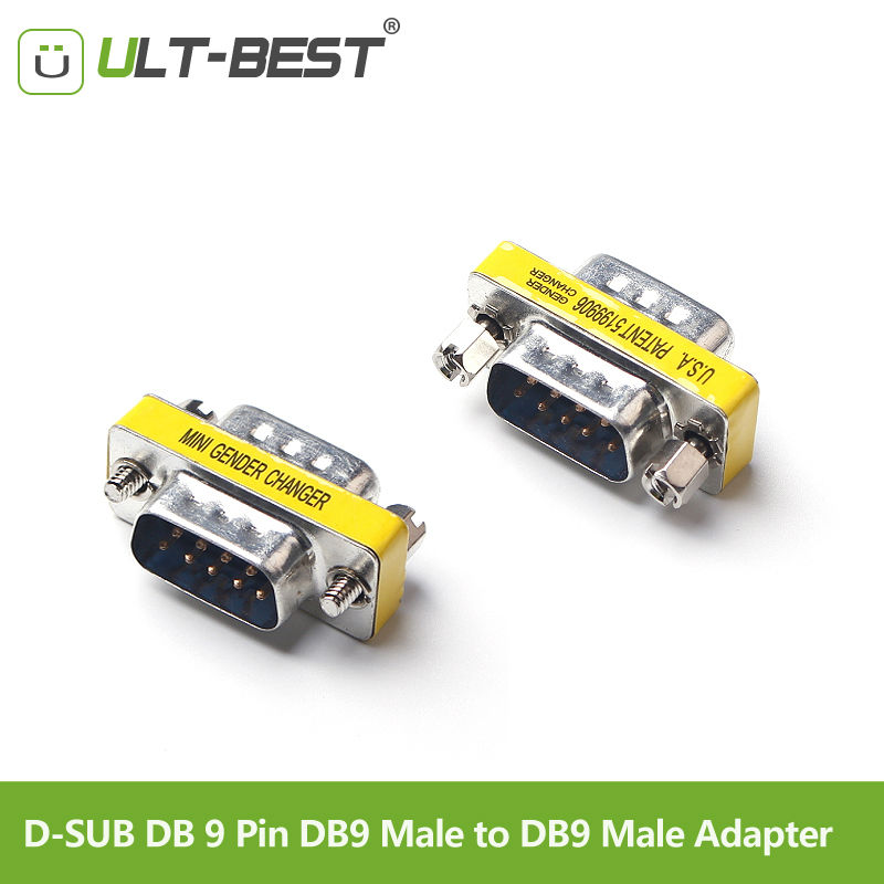 ULT-Best RS232 D-SUB DB 9 Pin DB9 Male To DB9 Male Adapter DB 9 M/M Connector Extender