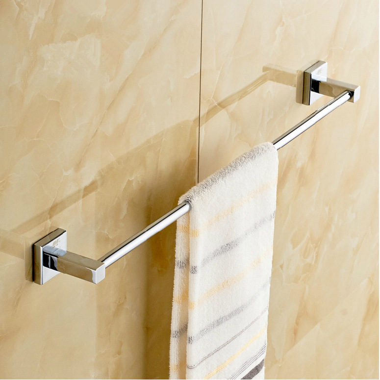 Free Shipping (24,60cm)Single Towel Bar/Towel Holder,Solid stainless steel,Chrome Finish,,Bathroom accessories