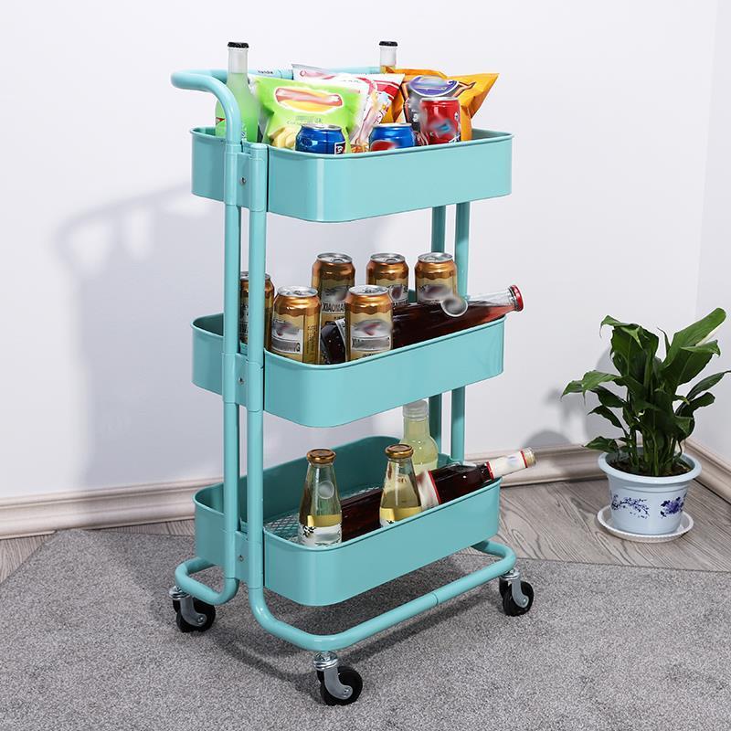 Estanteria Estantes Rack Scaffale del Bagno Organizacion Che Cocina Cucina Rack Di Stoccaggio Con Ruote Carrelli Organizer Shelf