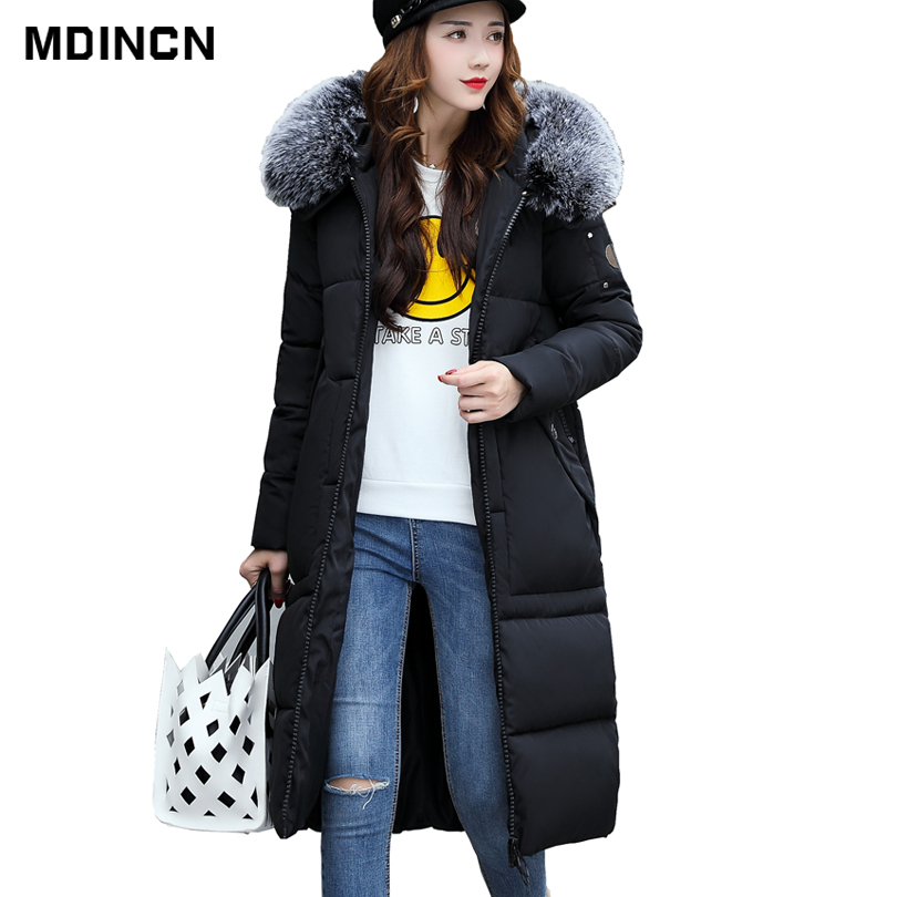 Siml Thick Women Quilted Parkas Long Women Cotton Padded Jacket Winter Windproof Womens Winter Jackets Coats Size 2XL women jacket 2017 autumn winter new fashion parkas padded ladies coats long quilted jackets plus size xl 2xl outerwear