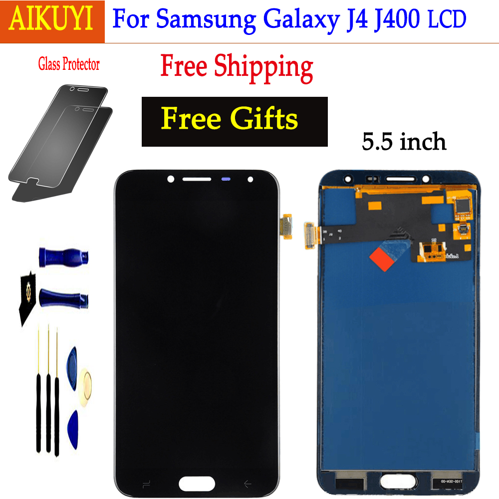 For Samsung Galaxy J4 2018 J400 LCD Display Touch Screen J400F J400H J400P J400M J400G/DS Panel Digitizer Assembly ReplacementFor Samsung Galaxy J4 2018 J400 LCD Display Touch Screen J400F J400H J400P J400M J400G/DS Panel Digitizer Assembly Replacement