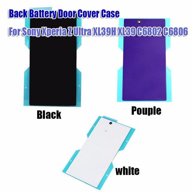 Оригинальные запасные части батарейного отсека обложка для sony Xperia Z ультра XL39H Спинку Заднего Стекла Крышка Корпуса с клей Бесплатно доставка