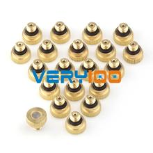 New 20pcs Brass Misting Nozzles for Cooling System 0.012 (0.3 mm) 10/24 UNC Garden