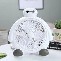 Baymax Electric Fan Cute Cartoon Desktop Fan 220V 2 Gears Wind Speed Powerful Faner