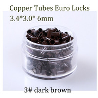 1000pcs 3 4 3 0 6mm 3 5mm Flare Euro Lock Copper Tubes Micro Rings Links