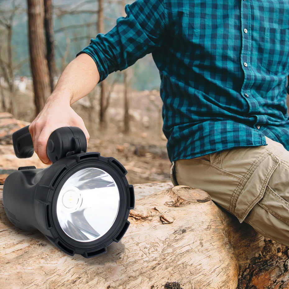 LED Portable Spotlight Lantern Searchlight Rechargeable Handheld High Power Light for Outdoor Camping Hunting Flashlight