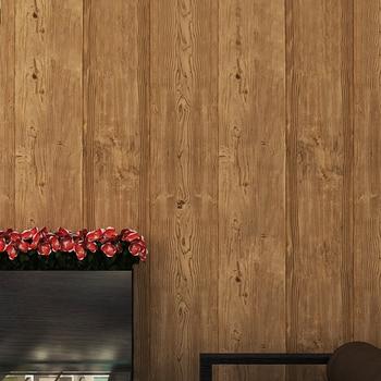 Super Thick 3D Wood Texture Embossed Waterproof PVC Wall Paper Roll Living Room Desktop Vintage Wallpaper Mural Papel De Parede декоративні лампи із дерева у стилі бра