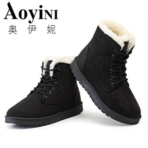 0da2762ae بوتاس femininas النساء الأحذية 2018 جديد وصول النساء الشتاء الأحذية حذاء  الثلج عالي الرقبة دافئ الأزياء أحذية منصة أزياء النساء حذاء من الجلد