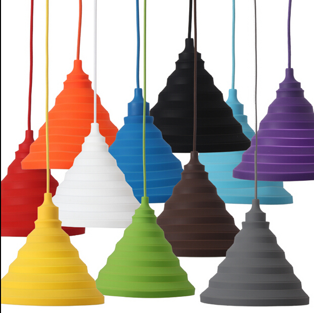 Muuto e27 chandeliers lamp 24cmh19cm color silicone folding muuto e27 chandeliers lamp 24cmh19cm color silicone folding lampshade pendant hanging socket light fixture in pendant lights from lights lighting on mozeypictures Image collections