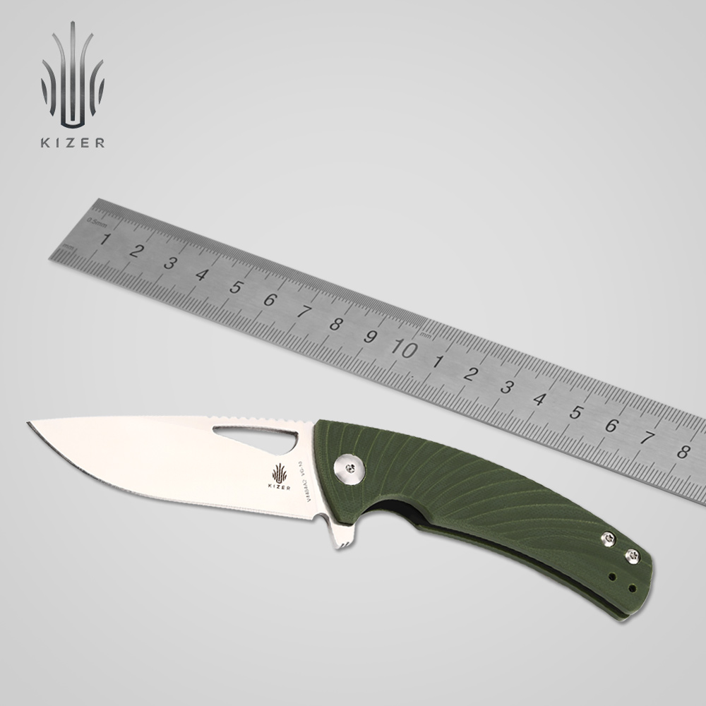 Kizer bushcraft knife V4484A2 VG10 Blade tactical folding knives survival high quality hand tool hx small mercenary survival hunting knife d2 steel blade fixed blade knife straight camping knives multi tactical hand tools