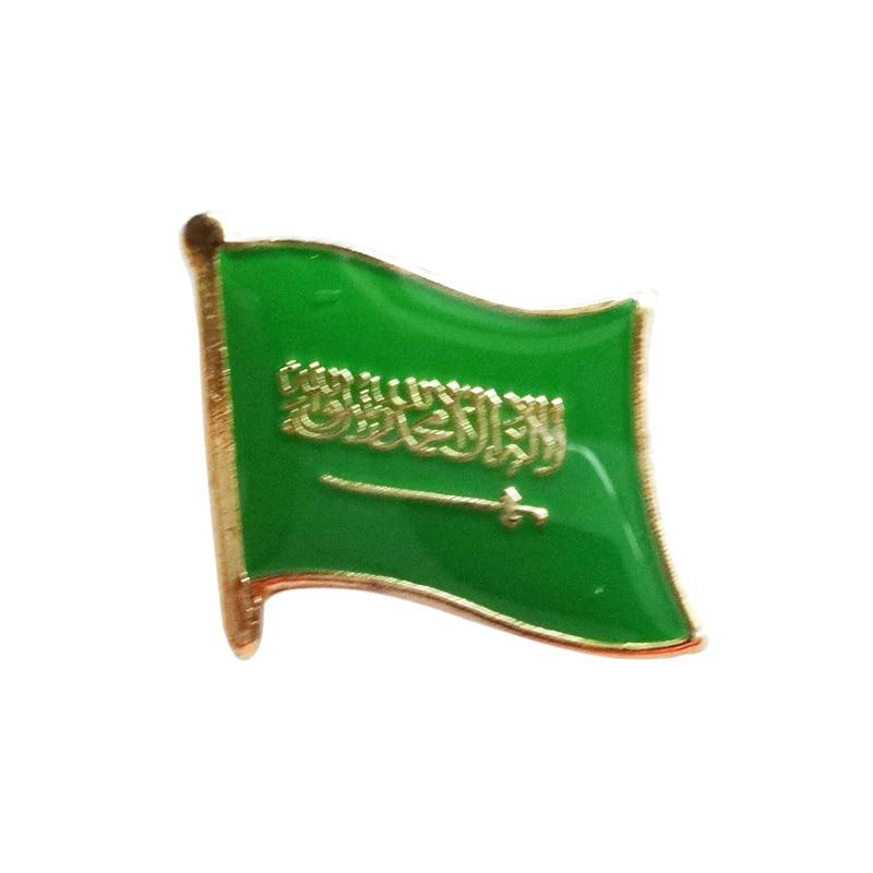 Saudi Arabia Country Flag Enamel Pin Badge
