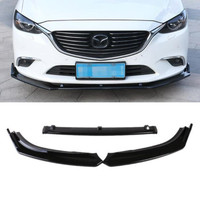 ABS Paint Car Front Bumper Spoiler Lip, Auto Car Bumper Diffuser Cover 3pcs/Set For Mazda 6 Atenza 2014 2015 2016 2017 2018