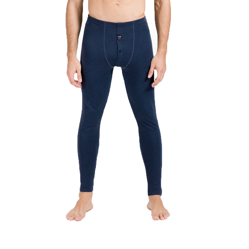 Herren-unterwäsche Neue Ankunft Männer Warme Lange Unterhosen Hosen Thermische Basis Schicht Dicke Unterwäsche Winter Navy