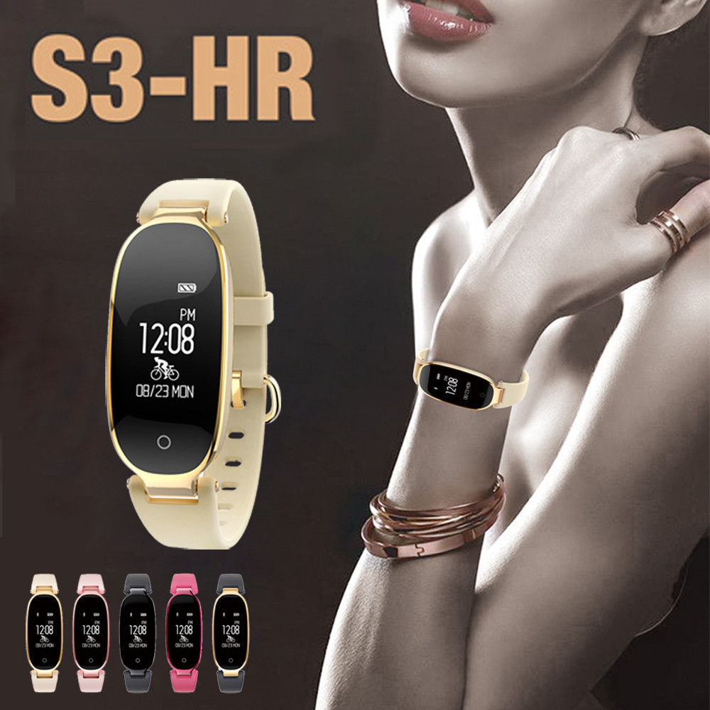 Smart Wrist Watch BT V4.0 BLE Heart-Rate Sleep Monitoring Facebook Twitter WhatsApp S3 3-axis gravity sensing 5V USB