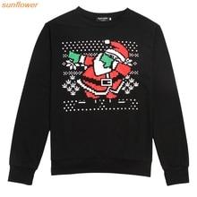Neue Santa print Sweatshirt Für Männer Weihnachten fleece männer streetwear plus größe