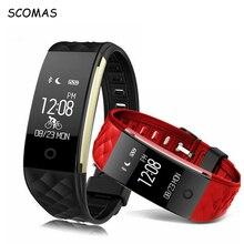 Scomas Фитнес трекер Браслет Смарт Часы сердечного ритма Мониторы Bluetooth Беспроводной Водонепроницаемый IP67 умный Браслет