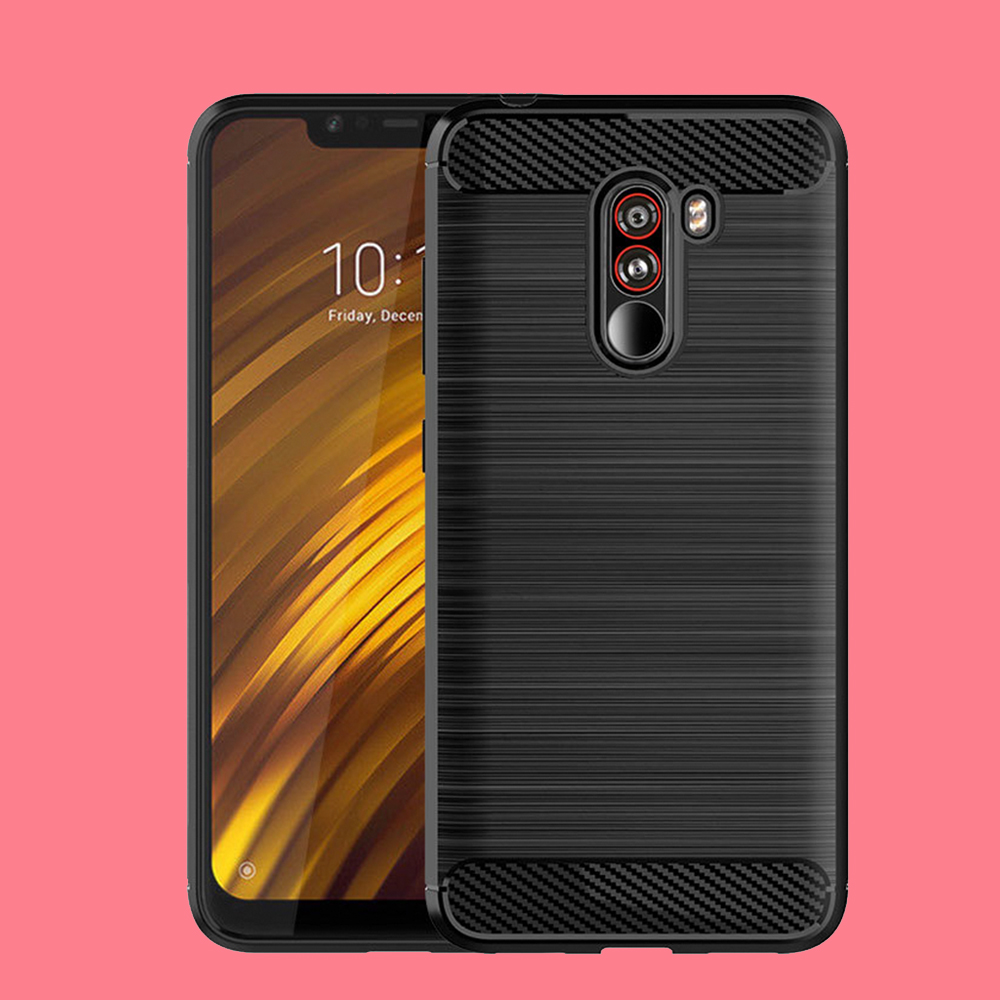 Pocophone f1 case tpufitted cover For xiaomi POCO F1 back cover pocophone protective phone case POCOPONE F1 case poco f1 stoff in Fitted Cases from Cellphones Telecommunications