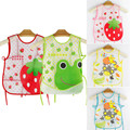 New Cartoon Kids Turn Translucent Plastic Bibs Child EVA Soft Waterproof Bibs 7 styles baby accessories