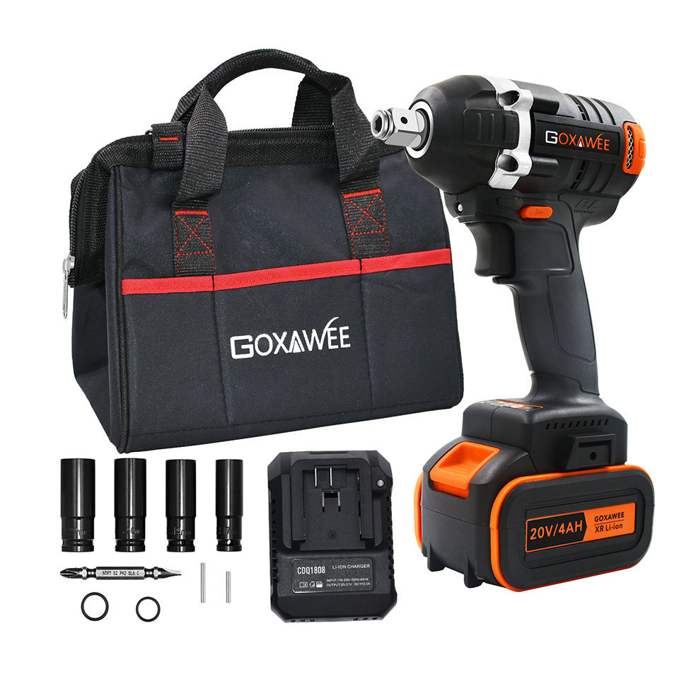 20V Brushless Cordless Impact Driver Electric Wrench 320N m Torque For Household Car SUV Wheel Socket