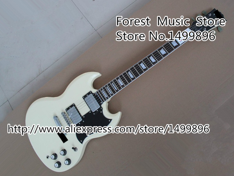 2014 Arrival The Ever Best White Classical SG Standard Electric Guitars China OEM Body & Kits Lefty Custom Available high quality musical instrument cherry sunburst classical hollow guitar body es jazz guitars china lefty available