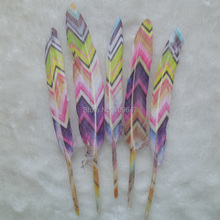 50Pcs/lot!The Multicolor Painting Unique Goose Feathers Duck Wedding Hat Embellishment 9-15cm long