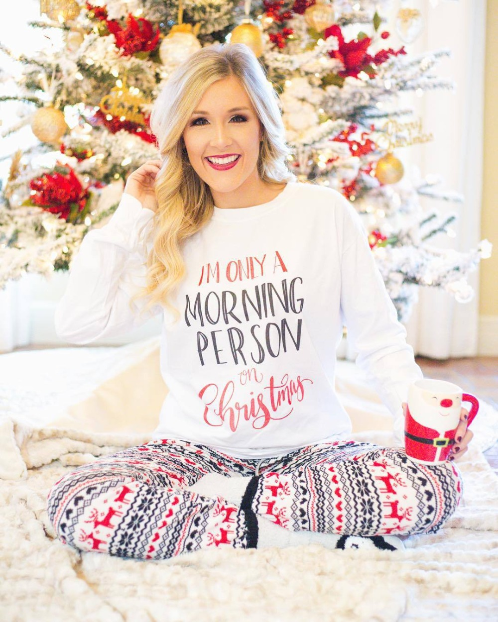 2018 Hot Sale! New Arrivals Casual Christmas Letter Print Long Sleeve Women Comfortable   Pajamas     Sets   Home Womens Clothing