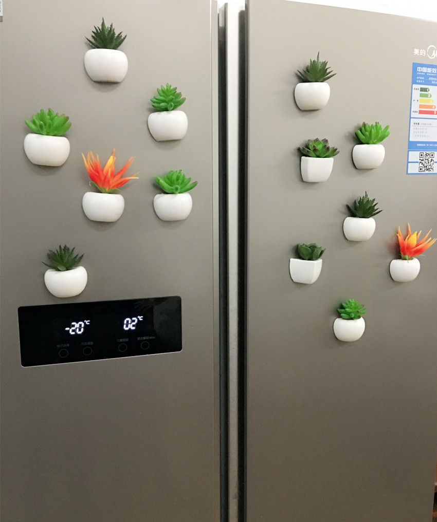 Bonsoplant Fridge Magnets Potted Artificial Green succulent Bonsai plants HTB1a0D vpmWBuNjSspdq6zugXXaj fridge magnets