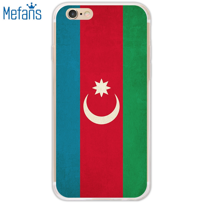 Mefans Retro Azerbaijan flag pattern for iPhone 7 case