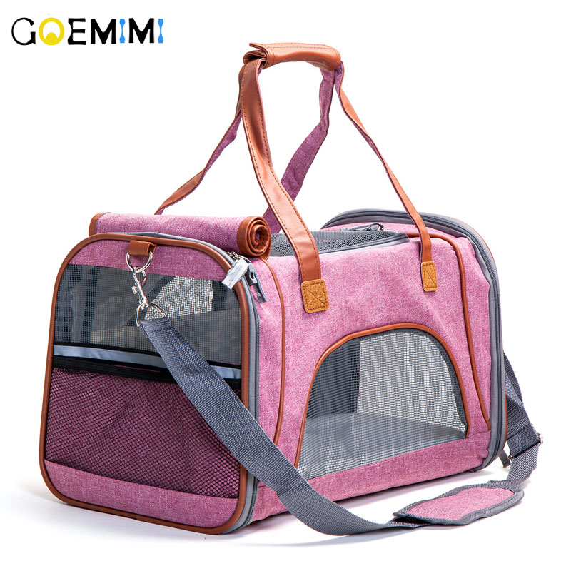 New Cat Outdoor Carrier Breathable Mesh Pet dog Travel Bag Top Quality Puppy Shoulder Bag Small