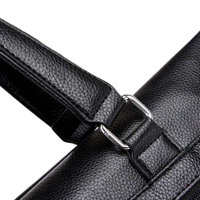 FANTI 2019 Homens Negócio Pasta Ocasional Bolsa de Ombro Mensageiro Sacos de Couro Bolsa de Computador Portátil Saco de Sacos de Viagem dos homens