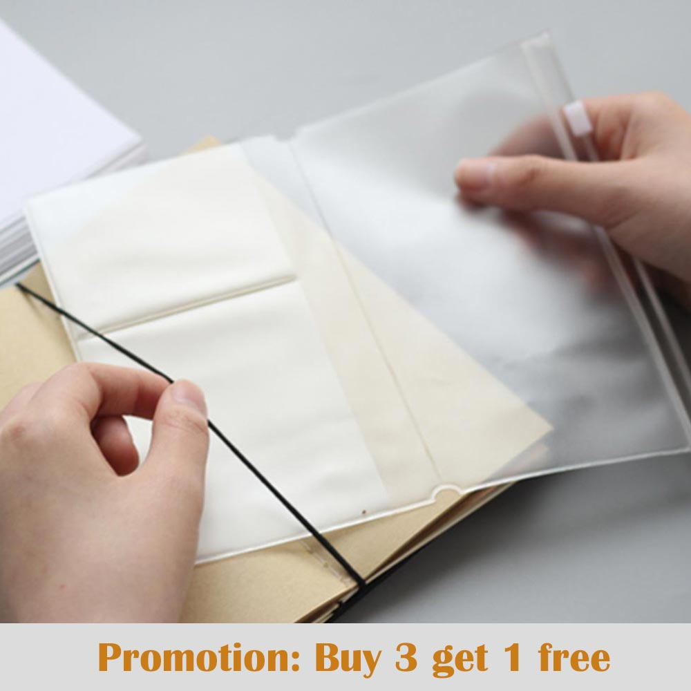 Travelers Notebook Traveler Diary Pvc Zipper Sheet Protector Business Card Storage Bag Accessory Card Holder Bag Storage Journal