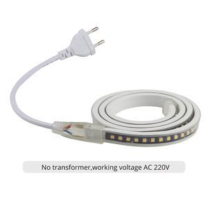 Image 5 - SMD4040 светодиодный лента без трансформатора светодиодный полосы 220 Вт водостойкый led полосы светильник 220 V белый/теплый белый светодиодный полосы ленты в полоску