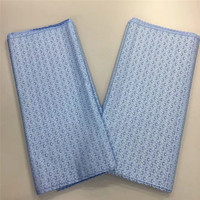 Hot Selling Nigerian Cotton Polish Fabric For Men High Quality Swiss Polish Lace Material 5Yards With Stones HL041003