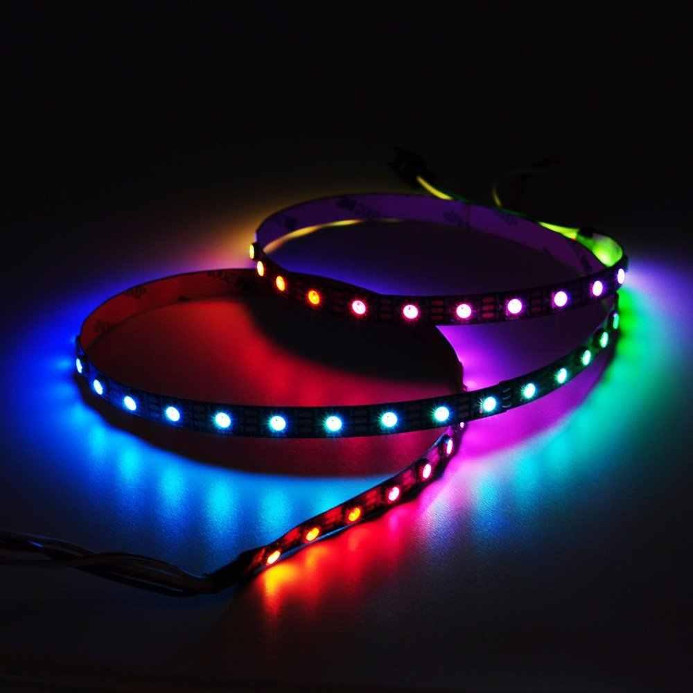 5 m WS2811 5050 SMD taśma oświetleniowa RGB adresowalna w pełnym kolorze WS2811 IC DC 12 V Led pikseli programowanie kolorów RGB inteligentny Led pikseli taśma led