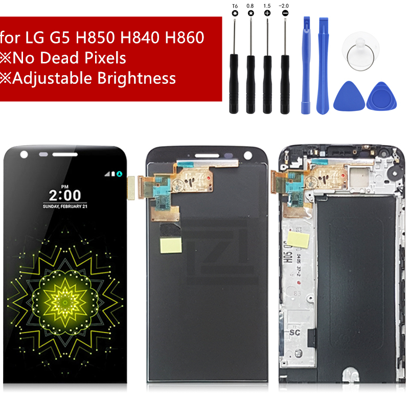 Super quality lcd for LG G5 LCD Display Touch Screen Digitizer Assembly for LG H840 H850 H860 H820 with frame Repair parts(China)